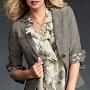 CABI Style# 923/177L Barrister Grey Tweed Suit